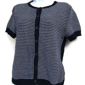 Brooks Brothers Cardigan Short Sleeve Sweater Sz M